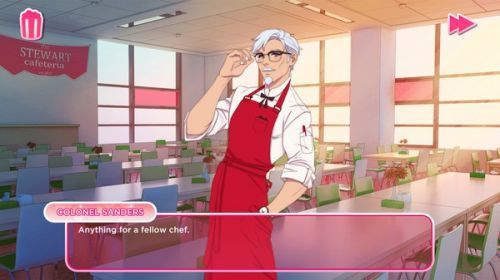 KFC恋爱游戏《我爱你山德斯上校》 炸鸡好吃,上校也很帅