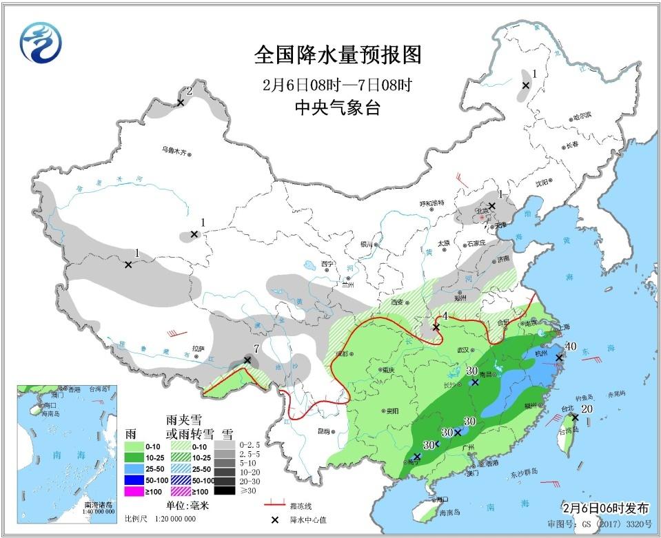 中东部有较大范围雨雪天气 华北黄淮等地将有雾霾