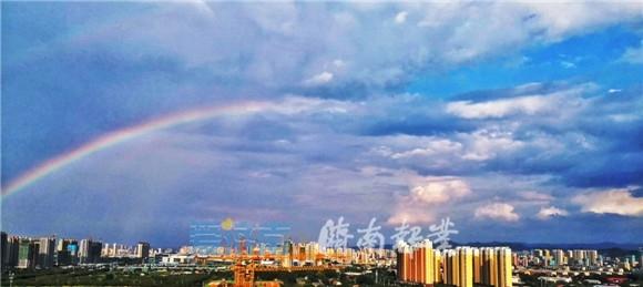 美爆了!一场急雨后济南再现双彩虹!大片都给你准备好了