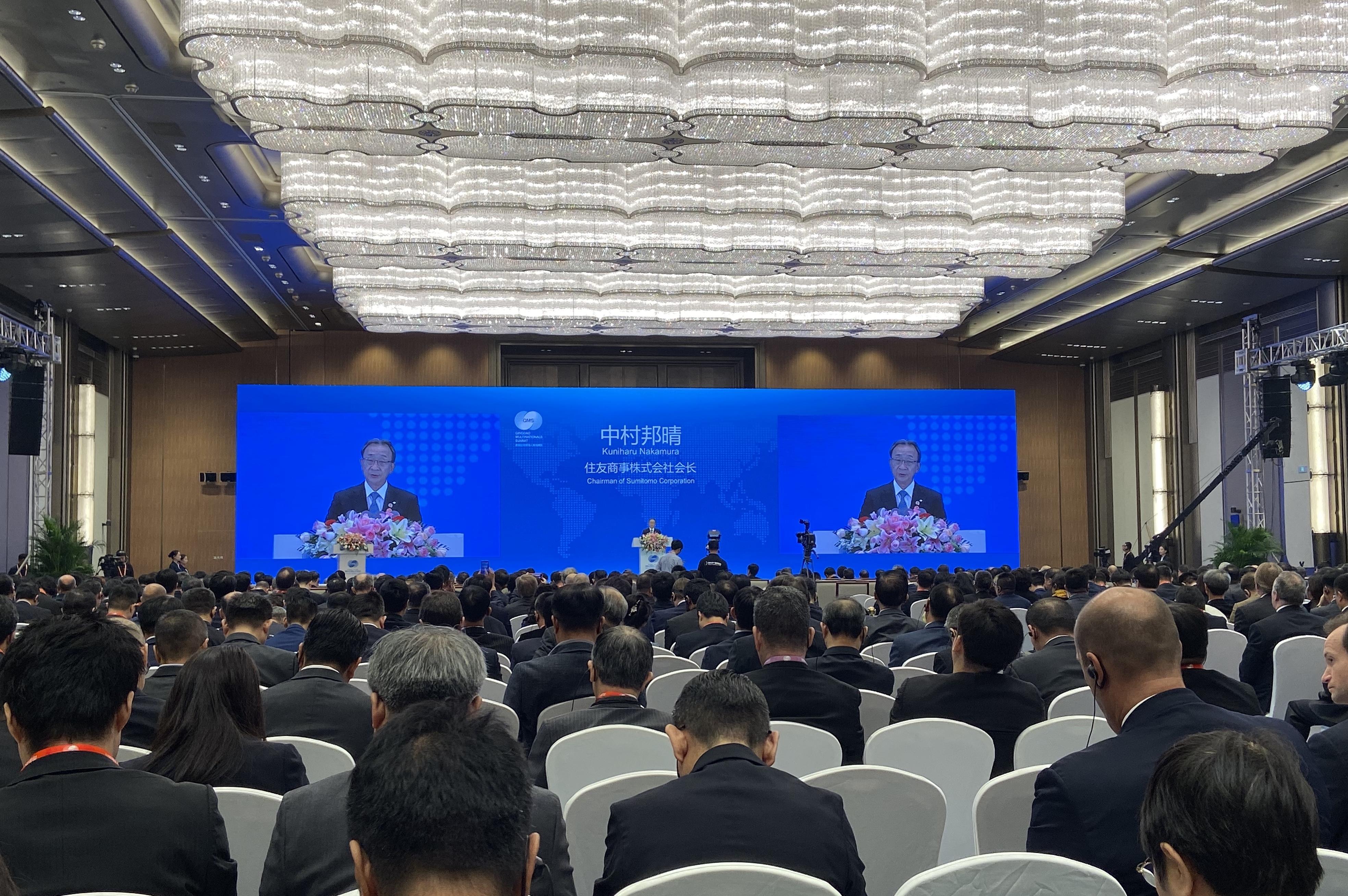 住友商事会长中村邦晴:开放的中国对世界经济发展具有重要意义