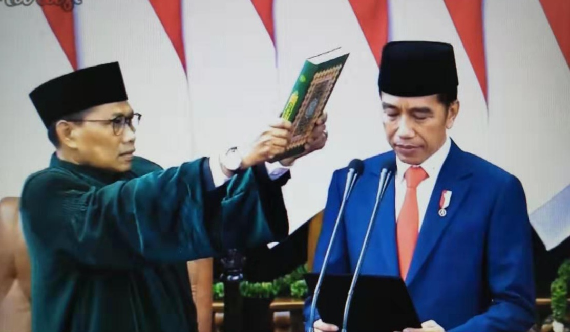 印尼总统佐科宣誓就职 开启第二届总统任期