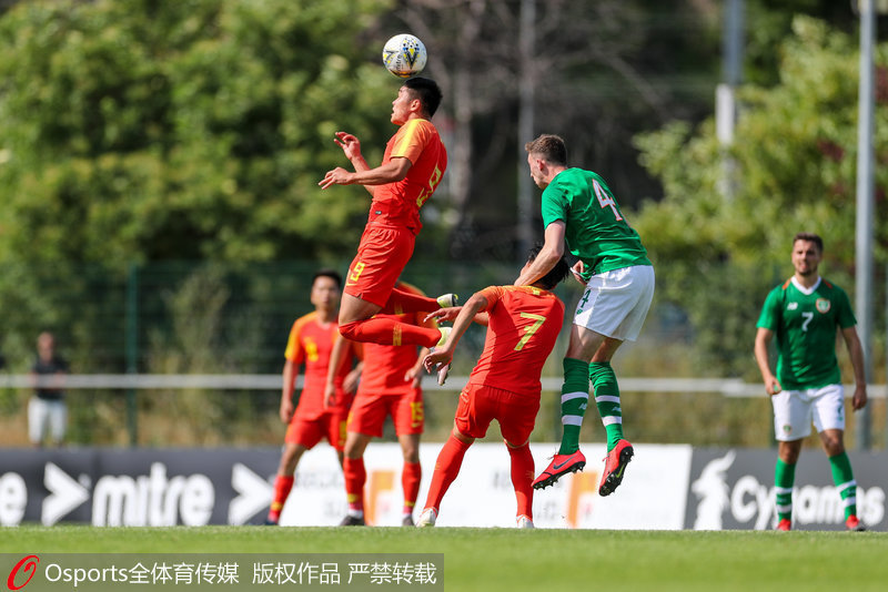 土伦杯:开场丢两球+手球送两点 国奥1-4不敌爱尔兰U21