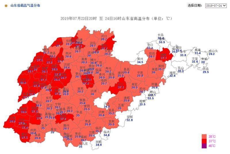 山东继续发布高温橙色预警 未来一周多短时强降雨