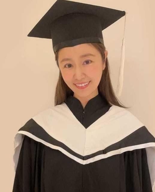 林心如晒硕士毕业照,之前为了学业来回奔波于上海