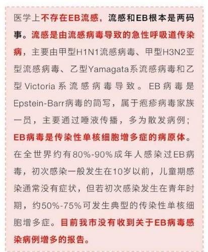 EB流感很严重?北京疾控中心辟谣:不存在EB流感
