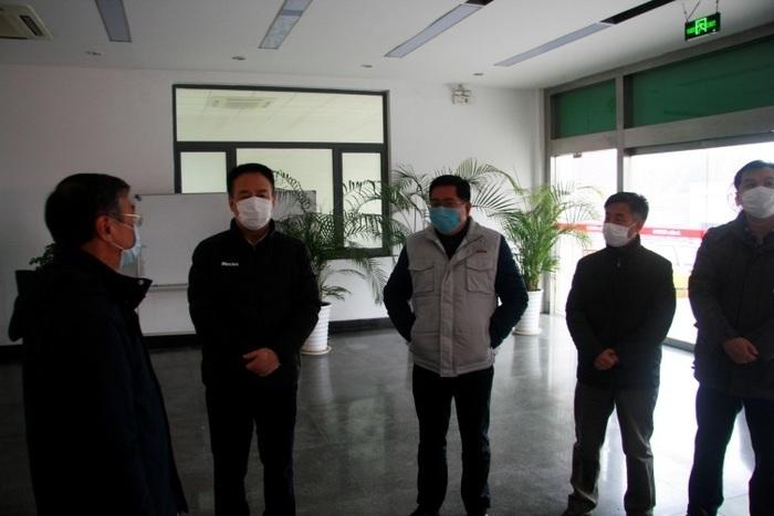 济南市政协副主席、市工商联主席刘梦海到园区走访复工复产企业