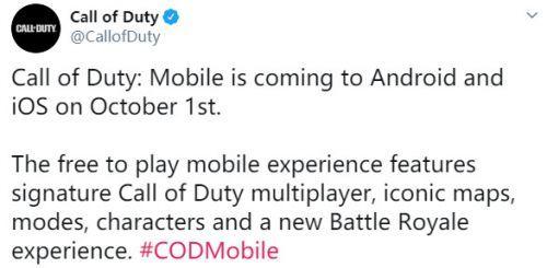 使命召唤手游公测时间公布 全新的游戏体验