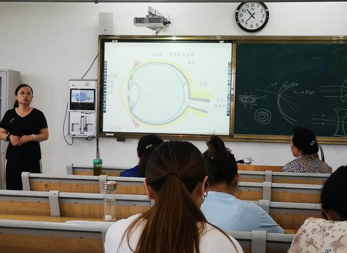 济南市技师学院医药与康养系进行眼视光专业普及性培训