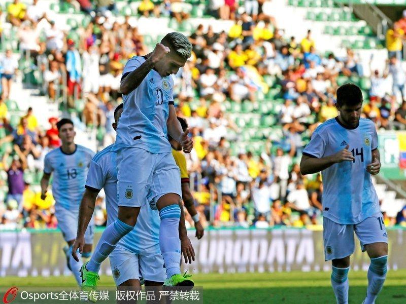 热身赛-阿拉里奥进球迪巴拉助攻 阿根廷6-1大胜厄瓜多尔