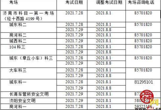 受天气影响,济南车管所28.29两日暂停考试