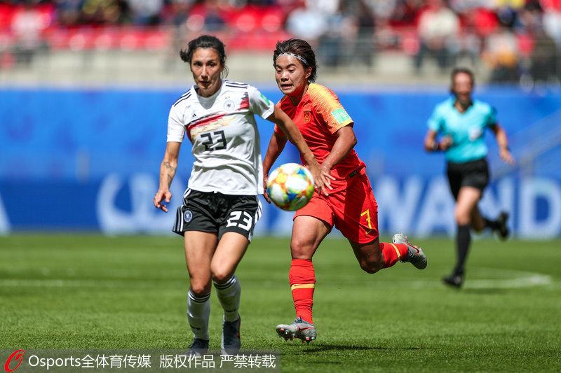 世界杯-格温世界波破门杨丽中柱 中国女足0-1不敌德国女足