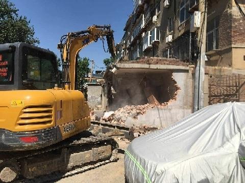 占壓公共設施 濟南白馬山街道30余處違建被炒拆