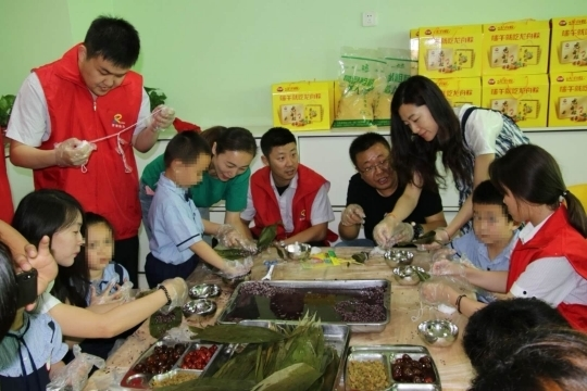 济南明天儿童康复中心为自闭症儿童过端午
