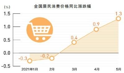 5月居民消费价格总体稳定