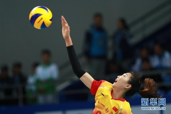 军运会女排首轮 中国八一队迎来开门红