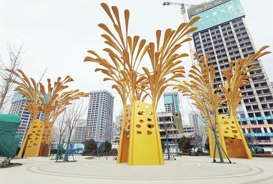 """全省最大""""涌泉""""雕塑开放 市民可零距离接触"""