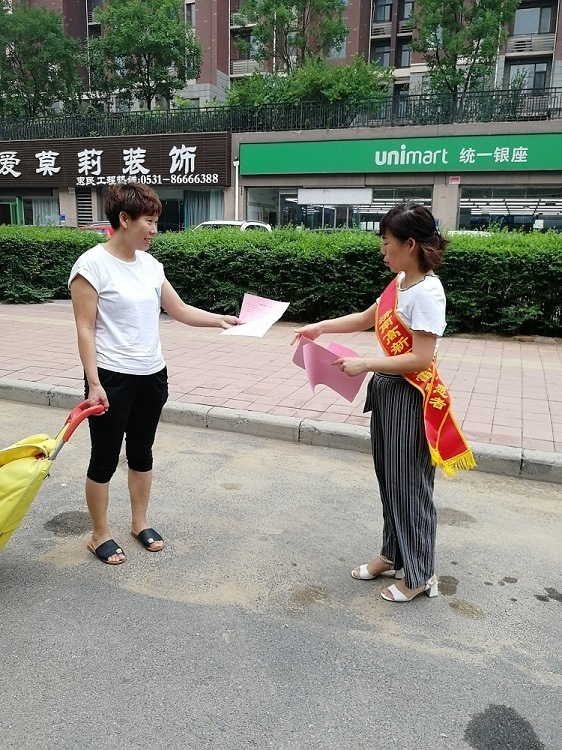 章锦小学开展防溺水志愿宣传活动