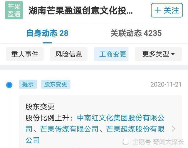汪涵何炅谢娜退出芒果关联公司 三大台柱同时退股引发众多猜测