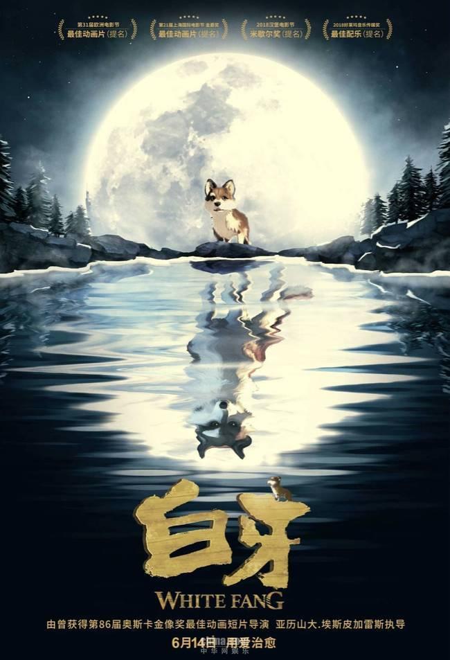 动画电影《白牙》曝月光版海报 6月14日一起成长