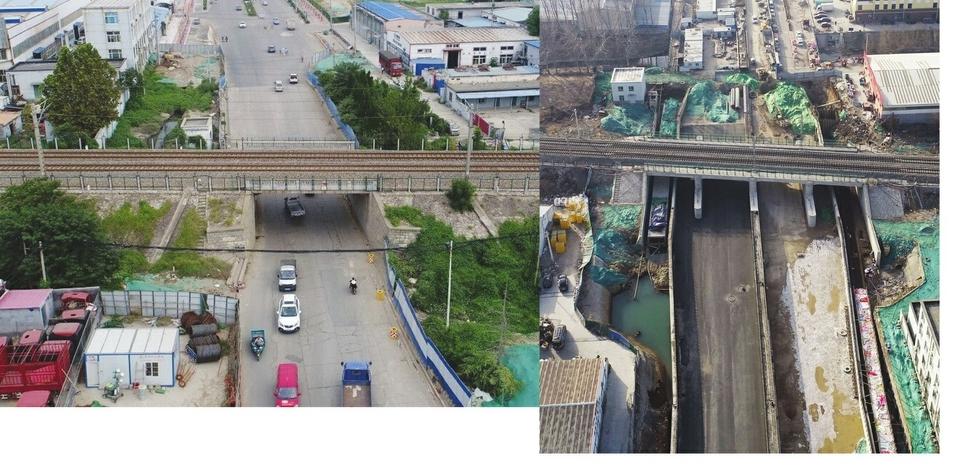 蓝翔路瓶颈段拓宽新桥宽度是以前4倍多 预计五一期间实现通车