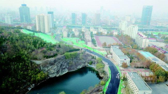 济南和平路东延本月月底通车,砚池成沿途靓丽景观