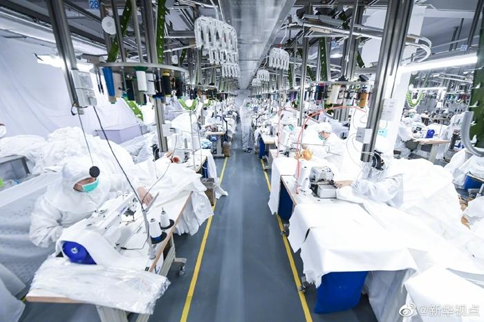 医用防护服日产量超20万套