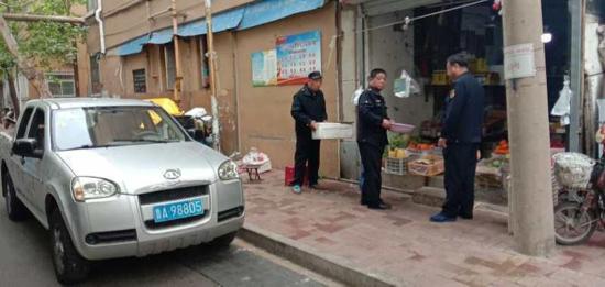 制锦市街道:一声哨响部门到  联合整治市容市貌