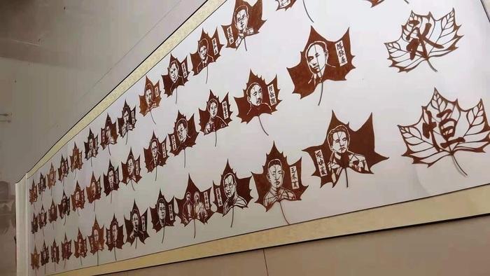 """聊城小伙创作叶雕""""永恒丰碑"""",以100位先进代表形象祝福建党百年"""