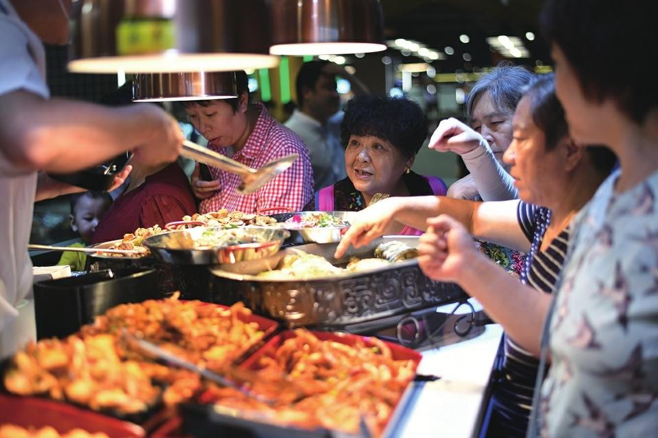 十几分钟 生鲜变盘中餐