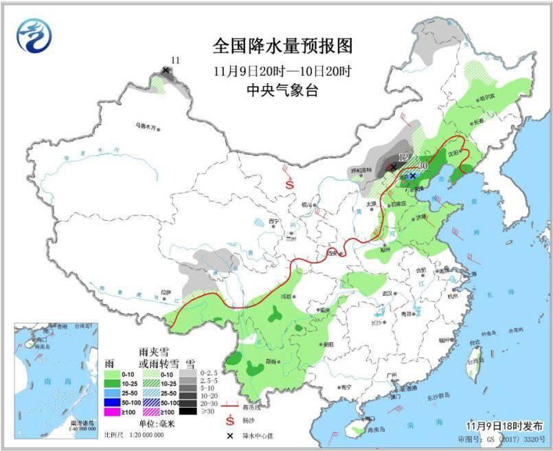 新一股冷空气将影响我国大部 华北东北局地有暴雪