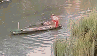 惊讶!小伙救起落水女子,却被她一脚踹下了河