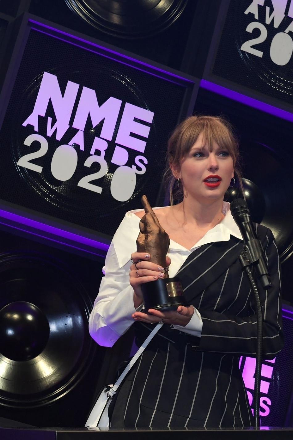 2020年NME颁奖典礼举行 霉霉获世界最佳Solo艺人