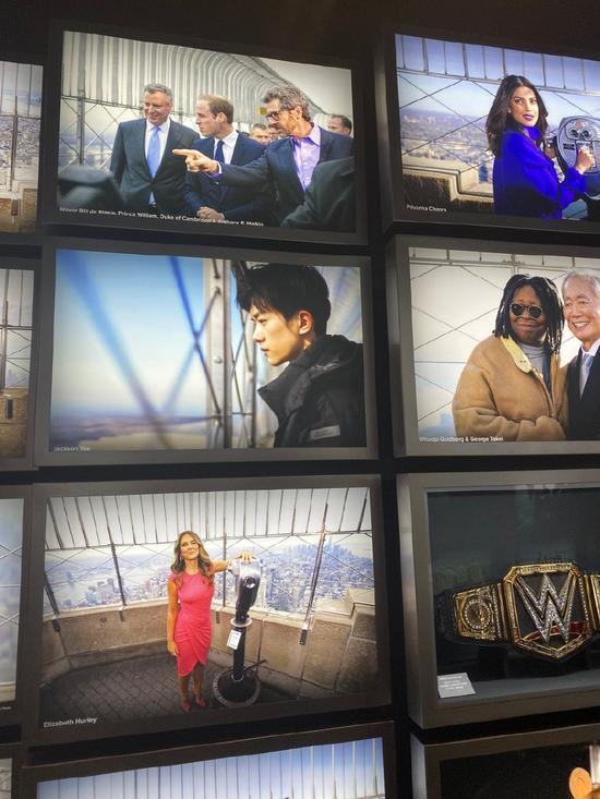 优秀!易烊千玺照片登上纽约帝国大厦名人墙