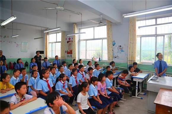 钢城区辛庄镇砟峪小学开展暑假前普法活动