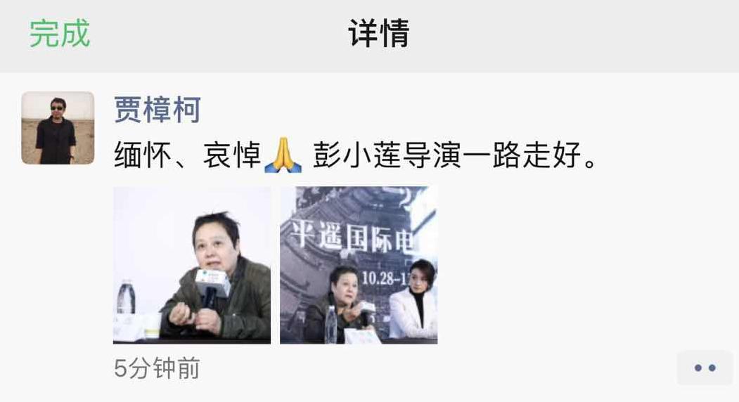 导演彭小莲逝世享年66岁 与张艺谋、陈凯歌同属于第五代导演