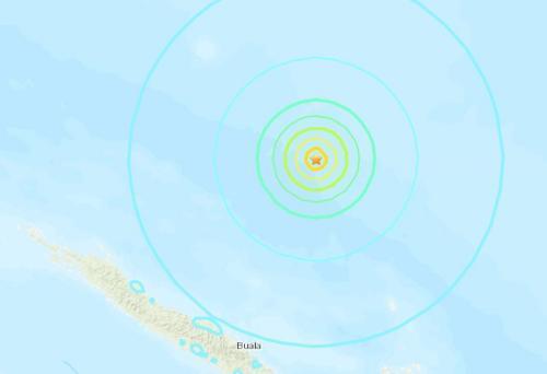 所罗门群岛附近发生6.1级地震 震源深度10公里
