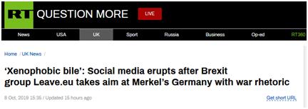 """默克尔给脱欧谈判""""泼冷水"""",英 """"脱欧派""""组织以""""德国佬""""回怼"""