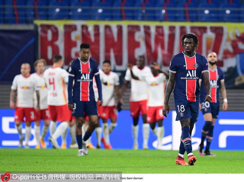 欧冠-迪马利亚失点2人染红 巴黎圣日耳曼1-2客负莱比锡红牛