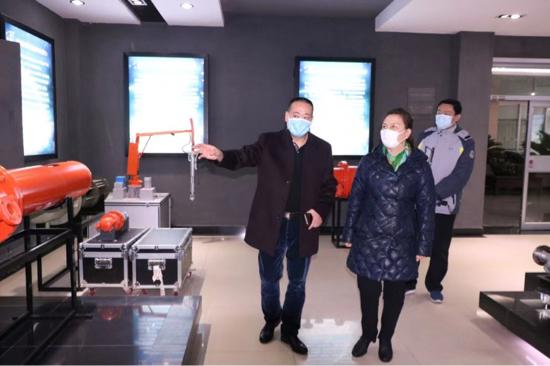 于红到民营企业走访督导疫情防控和复工复产工作