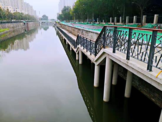 兴济河生态综合治理已完成90% 河道新景观初显
