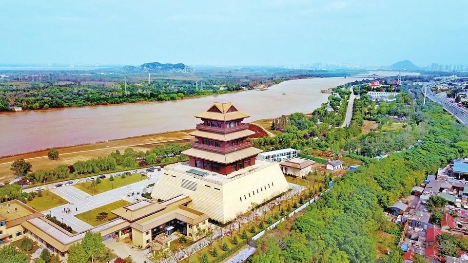 黄河畔增添新地标 济南黄河文化传承基地即将完工