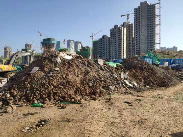【啄木鸟在行动】济南国际金融城市政二期 大面积裸土未覆盖