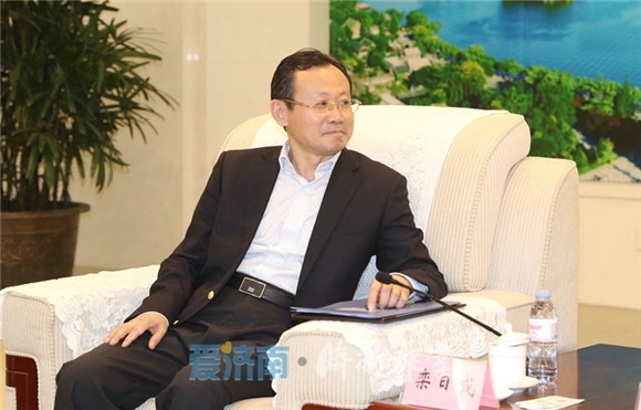 孙述涛会见中粮集团副总裁、全国糖酒会组委会主任栾日成一行