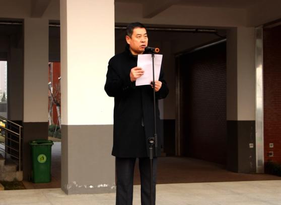 """济南中学东校区举行""""扬帆远航,耕耘梦想""""主题开学典礼"""
