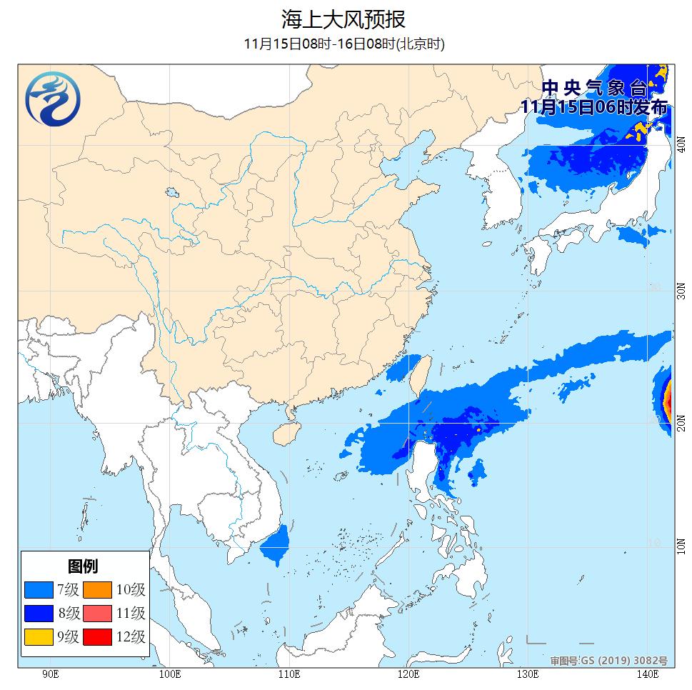 强冷空气将影响我国大部 南部海区将有较强偏北风
