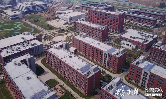 航拍即将启用的山东第一医科大学济南校区,一年建成犹如魔术
