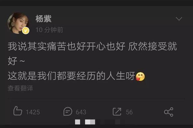 杨紫深夜发文秒删 被疑没有入围白玉兰奖而意难平