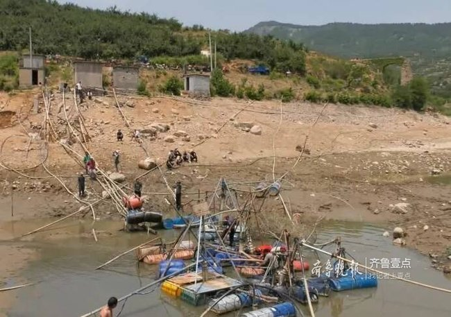 临沂蒙阴出现大面积严重干旱 调水900多万立方米