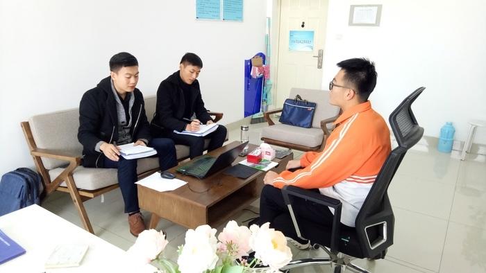 济南信息工程学校物联网专业 校企合作实训班进行学员面试选拔