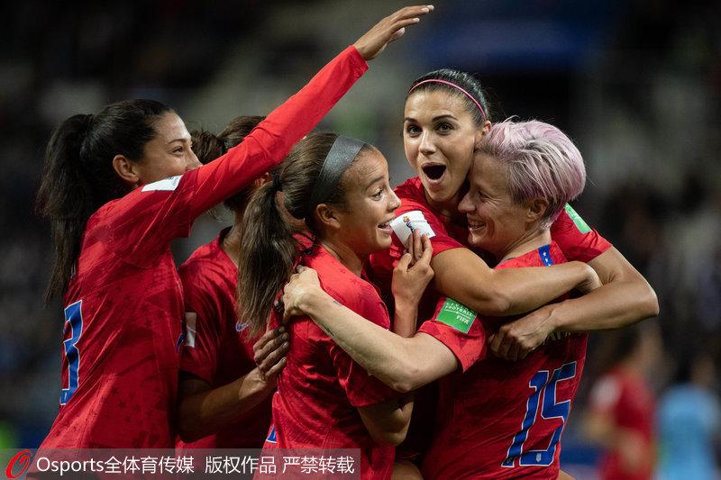 女足世界杯-摩根独进五球 美国13-0狂胜泰国破纪录